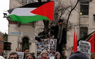Demonstrators in Dublin protest Israeli military operations in Gaza in early 2009. (CC BY/albertw via Flickr.com)
