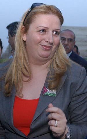 Suha Arafat. (photo credit: Sharon Perry/Flash90)