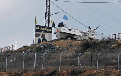 A UNIFIL patrol near the Israeli-Lebanese border. (Hamad Almakt/Flash90)