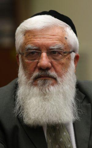 Former Shas minister Rabbi Raphael Pinhasi (photo credit: Kobi Gideon/Flash90)