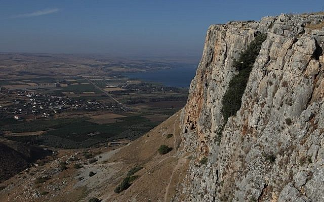 Mount Arbel, with the Sea of Galilee in the background, northern Israel. (photo credit: Yaakov Naumi/Flash90)
