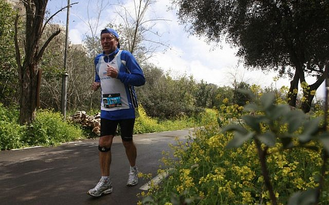 One of the running paths added to make life easier for Jerusalem runners (photo credit: Uri Lenz/Flash 90)