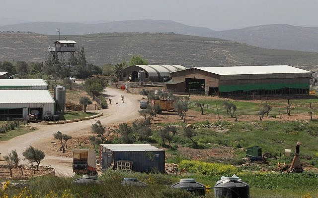 Illustrative photo of a farm in the West Bank. (photo credit: Nati Shohat/Flash90)