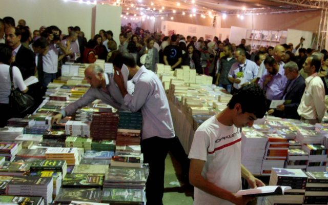 A book fair in Ramallah, October 2012 (photo credit: Issam Rimawi/Flash90)