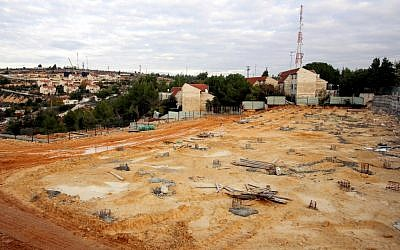 The demolished section of the Givat Ulpana neighborhood of Beit El, on November 27, 2012. (photo credit: Oren Nahshon/Flash90)