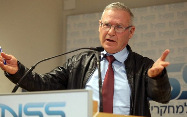 Amos Yadlin, former director of military intelligence, January 2012. (Gideon Markowicz/Flash90)