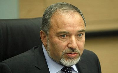 Avigdor Liberman, February 2013 (photo credit: Flash90)