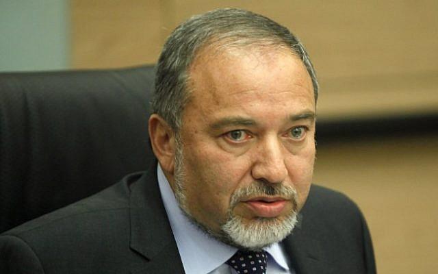Avigdor Liberman, February 2013 (photo credit: Flash90)