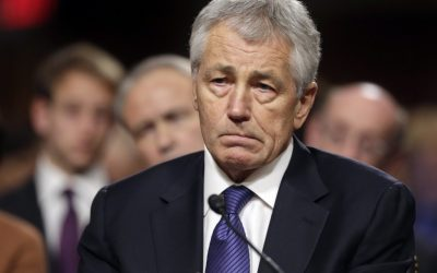Republican Chuck Hagel, US President Barack Obama's choice for defense secretary, testifies before the Senate Armed Services Committee during his confirmation hearing, on Capitol Hill in Washington, Thursday, Jan. 31, 2013. (photo credit: AP/J. Scott Applewhite)