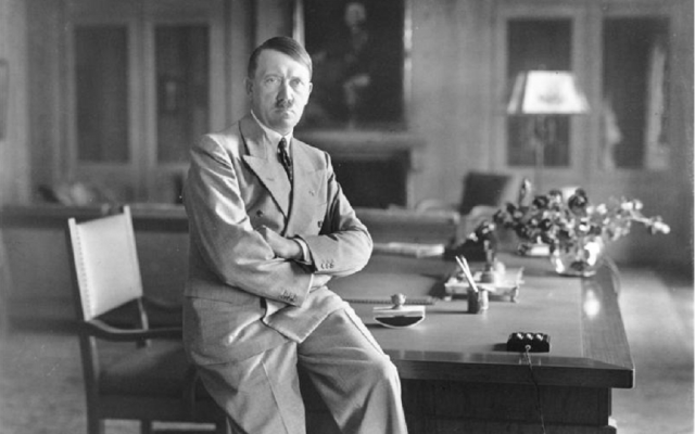 Adolf Hitler -- no, not this one -- hopes voters will keep him in office. (Bundesarchiv, Bild 146-1990-048-29A via Wikipedia)