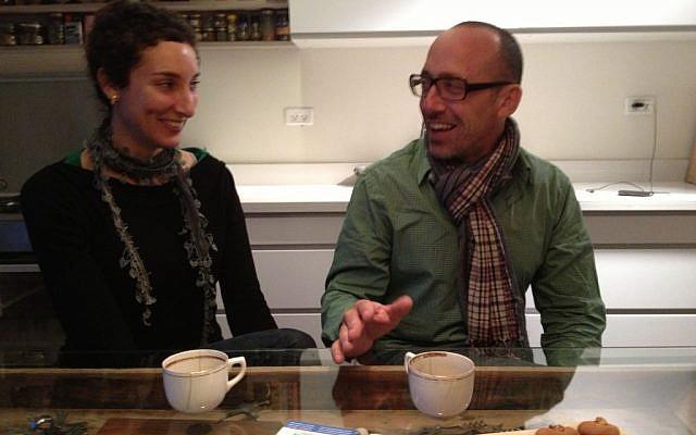 Na'ama Steigman Gavish and Ailon Gavish (photo credit: Jessica Steinberg/Times of Israel)