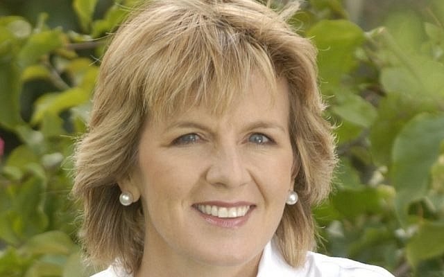 Australian Foreign Minister Julie Bishop (photo credit: CC BY-SA 3.0, by BotMultichill, Wikimedia Commons)