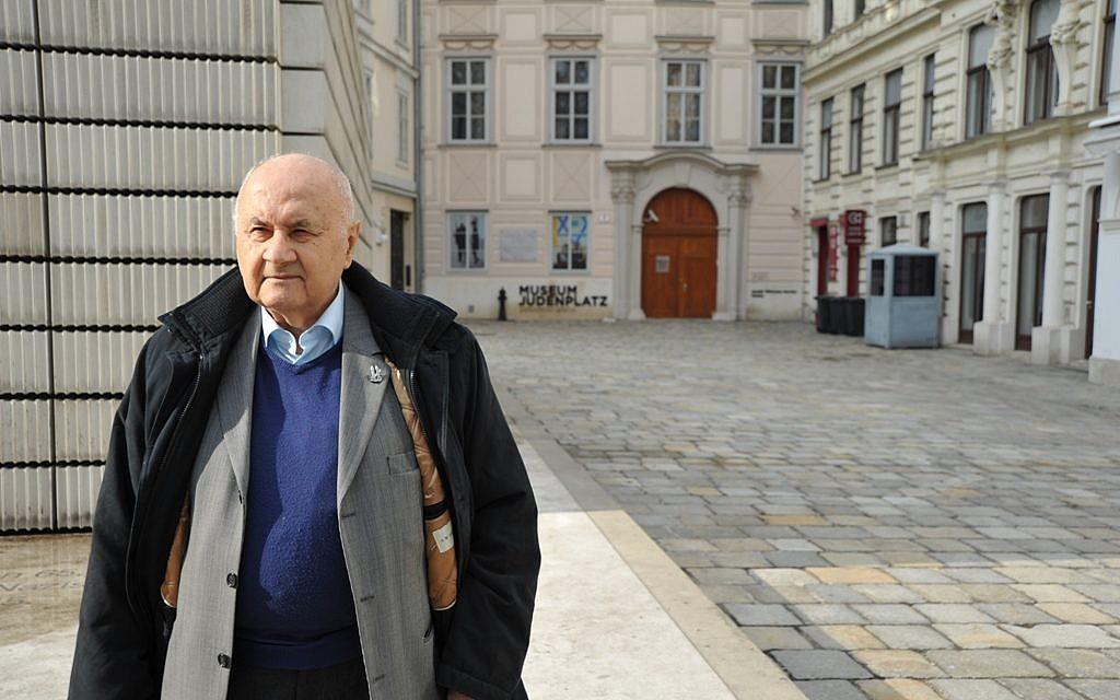 Like a growing number of Jews in Austria's capital, Karl Pfeifer grew up in Budapest but now lives in Vienna. (Cnaan Liphshiz/JTA)