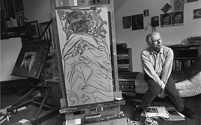 Kitaj lived in London for more than three decades, but left in anger after critics trashed a 1994 show at the Tate. (Photo credit: Lee Friedlander, courtesy of Frankel Gallery, San Francisco)