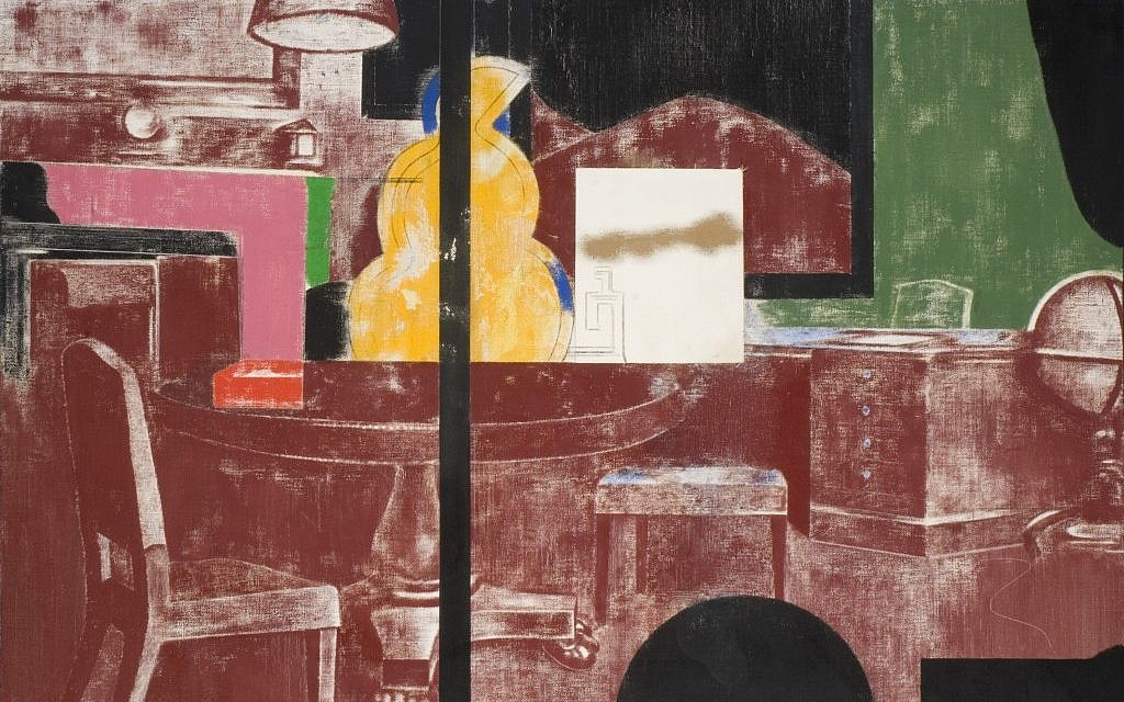 "Painted between 1970 and 1984, R.B. Kitaj's ""Desk Murder"" reflected on the bureaucracy that set the Holocaust in motion. (Birmingham Museums Trust)"