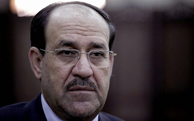 Iraq's Shiite Prime Minister Nouri al-Maliki (photo credit: AP/ Khalid Mohammed)