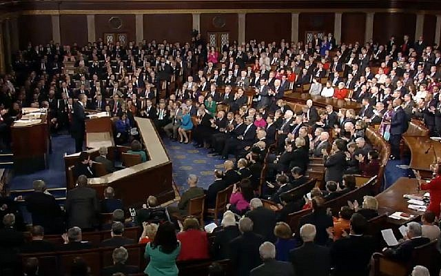 US President Barack Obama delivers the State of the Union address on Tuesday, February 12 (photo credit: image capture/YouTube)