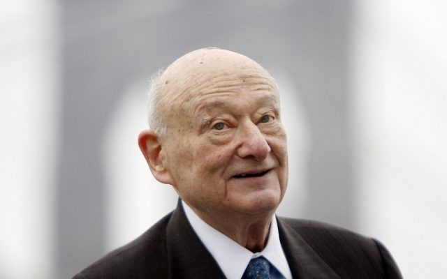 Former New York City mayor Ed Koch, seen here in March, 2010 (photo credit: AP/Seth Wenig/File)