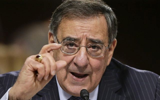 Outgoing US Defense Secretary Leon Panetta testifies on Capitol Hill in Washington, D.C., February 2013 (photo credit: AP/J. Scott Applewhite)