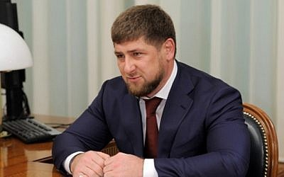 Former Chechen rebel and current head of the Chechen Republic Ramzan Kadyrov (photo credit: CC-BY-Government.RU/Russian Federation)