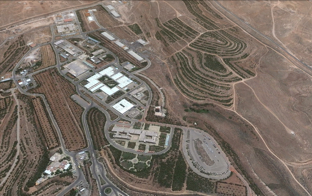 A Google Earth view of a Syrian