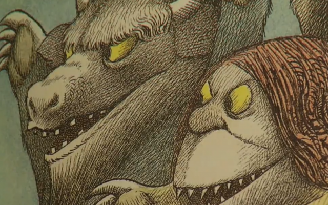 "An illustration from Maurice Sendak's seminal work, ""Where the Wild Things Are"" (photo credit: screen capture/WSJ Tribute to Maurice Sendak)"