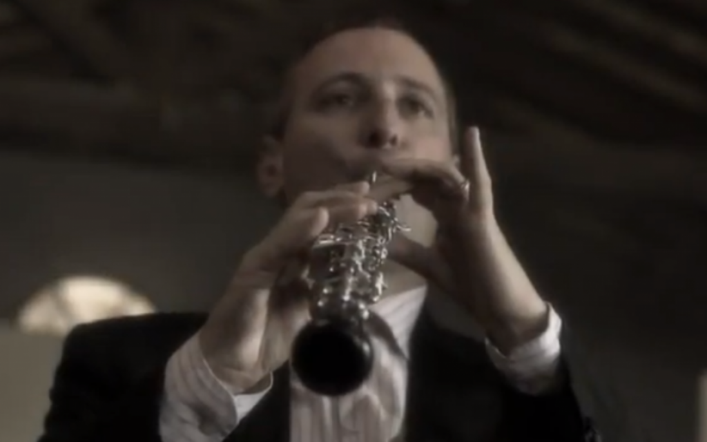 """Orchestra of Exiles,"" part of the Denver Jewish Film Festival this year (photo credit: screen capture/YouTube)"
