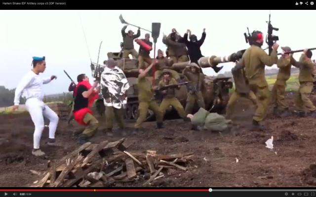 The IDF does the Harlem Shake (photo credit: YouTube Screen Shot)