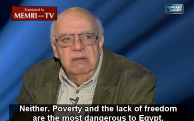 Egyptian author Ali Salem (screen capture: MEMRI)