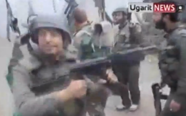 Syrian soldiers dance to Usher (photo credit: screenshot from YouTube)