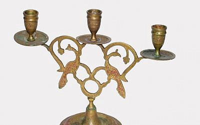 In the family for more than a century: Italian Shabbat candelabra (photo: supplied by author)
