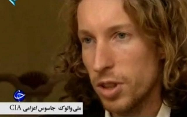 Suspected CIA spy Matej Valuch speaks on Iranian television (photo credit: image capture: YouTube)