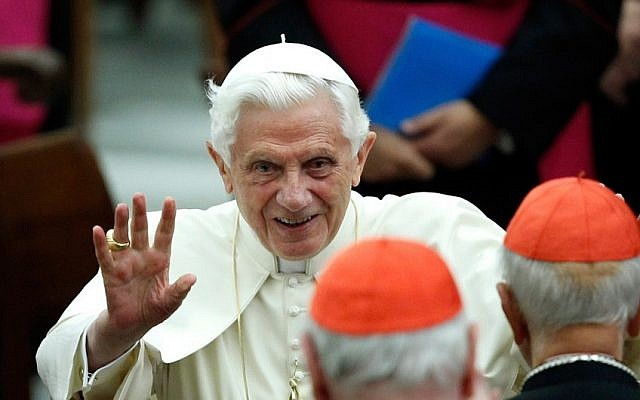 Pope Benedict XVI (photo credit: AP/Isabella Bonotto, file)