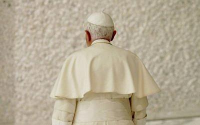 Pope Benedict XVI in 2010 (photo credit: AP/Andrew Medichini)