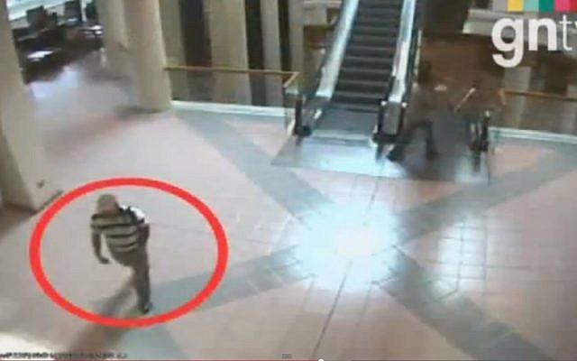 CCTV footage released by the Dubai police regarding the Mabhouh assassination. (Screenshot via YouTube)