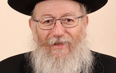 MK Ya'acov Litzman of the United Torah Judaism party. February 013. (photo credit: FLASH90)