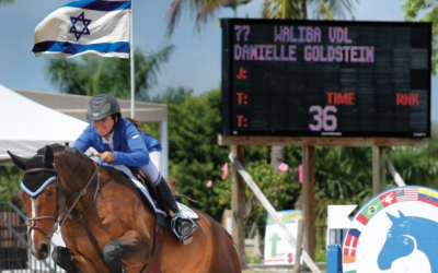 Raised in New York, Goldstein competes under the Israeli flag and wears her adopted country's colors when she rides. (Courtesy of Danielle Goldstein)