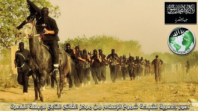 Jabhat al-Nusra fighters in training (Photo credit: wikicommons)