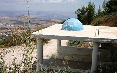 The tombs of Rabbi Abbaye and Rabbi Rava at Mount Yavnit (photo credit: Shmuel Bar-Am)