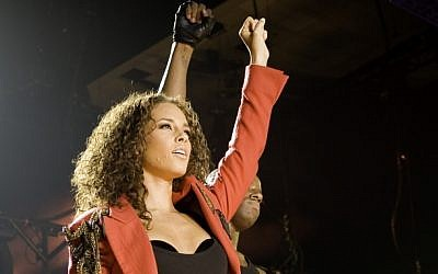 Alicia Keys in concert (photo credit: Shutterstock)