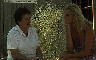 Fritzi Heller, pictured with her filmmaker daughter, has lived in Israel for more than half a century, but still wants to die and be buried in her native Germany. (Courtesy of Tom Pauer Productions)