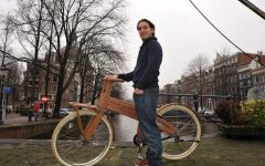 Maxime van Gelder, pictured in his native Netherlands, is working to turn Tel Aviv into a new market for Bough Bikes. (Cnaan Liphshiz/JTA)