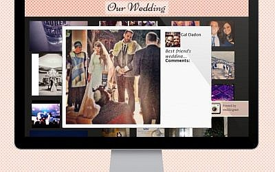 Screenshot of Weddingram, winner of the Wix Hackathon (Photo credit: Courtesy)