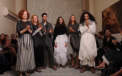 Kedem Sasson models at a recent show (Courtesy Kedem Sasson)