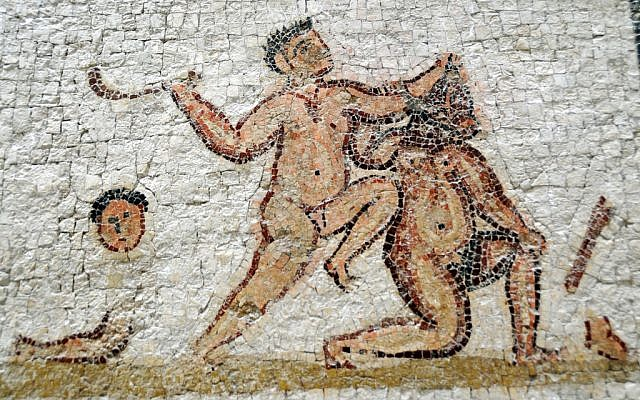 Illustrative photo from a Roman fresco in Tunis, Tunisia. (photo credit: CC BY Dennis Jarvis/Flickr)