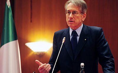 Italian Foreign Minister Giulio Terzi Di Sant'Agata in 2011. (photo credit: AP)