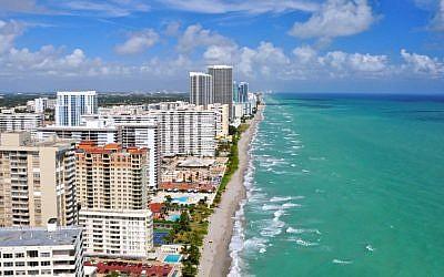 Aventura, Fla., a suburb of Miami. (Shutterstock via JTA)