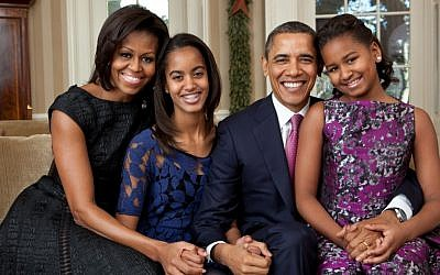 A photo of the Obama family in 2011 (photo credit: courtesy of the White House)