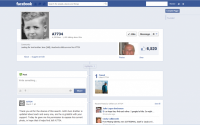 Menachem Bodner hopes Facebook will reconnect him with his twin. (Facebook screenshot)