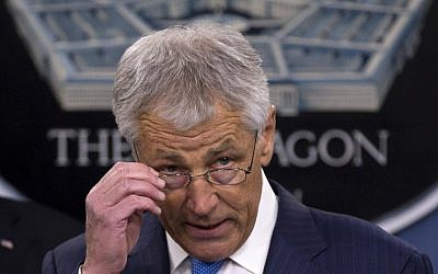 Defense Secretary Chuck Hagel (photo credit: AP/Carolyn Kaster)